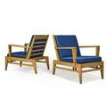 Rene gabriel 1899  1950 pair of lounge chairs france 1940s cerused oak canvas stamped signatures 31 12 x 25 12 x 32 12
