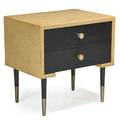 Paul frankl 1886  1958 johnson furniture co nightstand grand rapids mi 1940s lacquered cork and mahogany aluminum branded 24 x 24 x 18