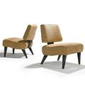 James mont 1904  1974 james mont design pair of lounge chairs new york 1960s stained and lacquered mahogany chenille unmarked 31 x 24 x 30