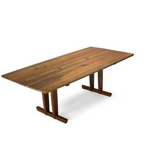 George nakashima 1905  1990 nakashima studios minguren iv dining table new hope pa 1981 walnut rosewood signed with clients name and date 29 x 85 x 41 12 provenance available copy o