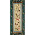 Chinese embroidery early 20th c two on silk framed both 23 18 x 9 58 sight