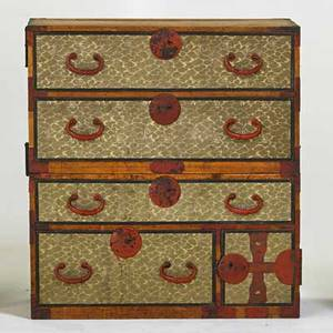 Tansu chest campaign style chest 19th c mixed woods 36 12 x 33 14 x 15 34