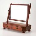 English dressing mirror early19th c mahogany mirrored glass brass unmarked 18 12 x 19 x 9