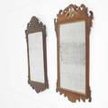 Two chippendale mirrors mahogany 19th c larger 37 12 x 21 12