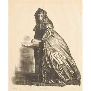 George wesley bellows american 18821925 lithograph the actress signed titled and annotated bottom brown imp 15 34 x 13 sheet