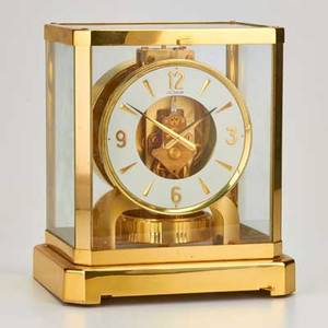 Le coultre atmos gilt brass table clock switzerland late20th c 9 14 x 7 12
