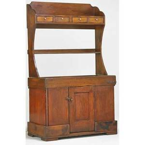 Country furniture dry sink 19th c  pine 70 x 43 x 20