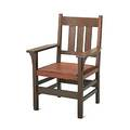 Gustav stickley fixed back armchair no 360 eastwood ny 190712 red decal 38 12 x 26 12 x 22 12