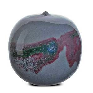 Toshiko takaezu 1922  2011 glazed porcelain moonpot with rattle clinton nj signed tt 7 x 6