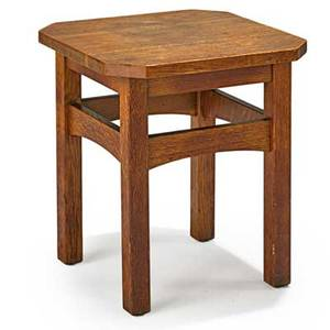 L  jg stickley clip corner tabouret fayetteville ny ca 1912 the work of decal 20 x 18 sq