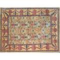 Style of william morris contemporary roomsize handknotted rug floral pattern on oatmeal ground unmarked 8 11 x 12