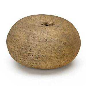 George ohr 1857  1918 bisque novelty apple biloxi ms 189596 stamped ge ohr biloxi 1 34 x 3 published ellison george ohr art potter pl 42 provenance the collection of robert a e