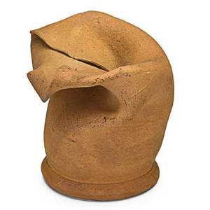 George ohr 1857  1918 small bisque pouch bank biloxi ms 18971900 stamped ge ohr biloxi miss 2 34 x 3 published ellison george ohr art potter pl 44 provenance the collection o