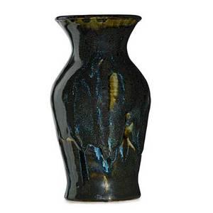 O l bachelder 1852  1935 omar khayyam vase with drip glaze luther nc 191635 stamped olb 9 12 x 5
