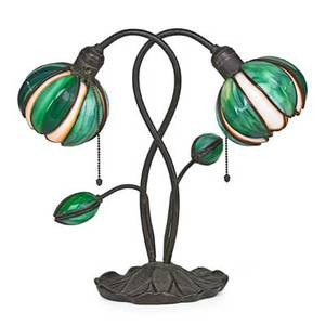 Handel water lily lamp meriden ct 1910s patinated bronze leaded glass two sockets base stamped handel 16 x 16 12