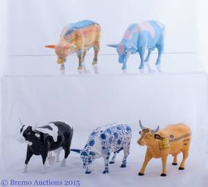 Cow Parade Collection Set of Five 5