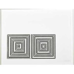 Frank stella american b 1936 les indes galantes iii 1973 offset lithograph in colors framed signed dated and numbered 24100 16 x 22 sheet publisher petersburg press ltd london pr