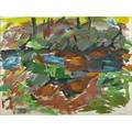 Elaine de kooning american 19201989 untitled catskill series rocks and trees 1965 watercolor on paper framed signed 26 x 32 exhibition graham gallery new york memorial gallery uni