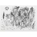 David shrigley british b 1968 untitled scribble and head 1996 marker on paper framed 8 14 x 11 58 sheet provenance galleri nicolai wallner copenhagen label on verso