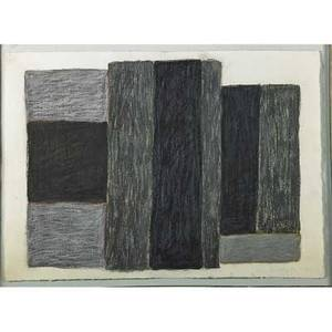 Sean scully americanirish b 1945 untitled 1985 oil pastel and charcoal on paper framed signed and dated 22 x 30 12 sheet provenance juda rowan gallery london label on verso