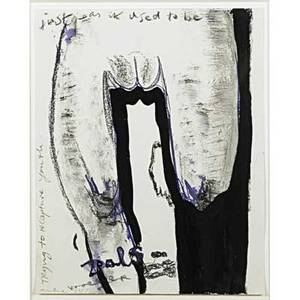 Marlene dumas south african b 1953 just as it used to be 1987 pencil watercolor ink and wax crayon on paper framed signed dated and titled 12 x 9 12 sheet provenance zwirner  wir