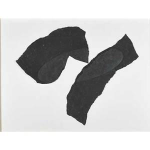 Ching ho cheng chineseamerican 19461989 ufo 1985 charcoal and graphite on torn paper framed 36 x 48 sight provenance bruno facchetti gallery new york label on verso