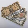Us currency five pieces fr39 1917 100 fr 60 1917 200 etc