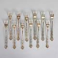 Gorham silver strasbourg oyster forks 12 oyster forks 697 ot