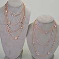 Ippolita rose necklaces collection of four chains includes quartz pink moonstone and purple stations 55 gs 3238