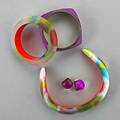 Alexis bittar lucite jewelry five pieces of alexis bittar cfda accessories designer of the year winner 2010 two luminous bangles internal diameter 2 12 color block collar 5 14 x 4 58 pai