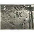 Robert riggs american 18961970 three works of art clown acrobats lithograph signed and titled 19 58 x 22 34 sheet trapeze lithograph signed in plate 20 x 23 78 sheet untitled