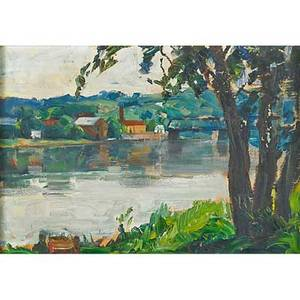 John fulton folinsbee american 18921972 lambertville ca 1930s oil on canvasboard framed signed 10 x 14 provenance private collection new jersey note this work will be included in th
