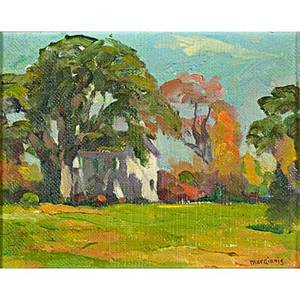 Henry ryan macginnis american 18751962 two works of art untitled 1934 oil on canvas mounted to board framed signed and dated 8 x 10 landscape oil on canvasboard framed signed 8 x