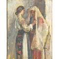 Samuel mutzner romanian 1884  1959 untitled oil on board framed signed 10 x 7 78 provenance the artist by descent to present owner