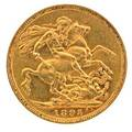 1895 gold sovereign australia au 58