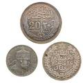 African coins seventy including moroccan 1911 rial egypt 1916 20 piastre ms63 ethiopia 1889a 12 birr etc