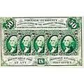 F1312 50c postage currency ms 65