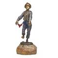 Carl kauba austrian 18651922 coldpainted bronze of a boy dancing marble base early 20th c 5