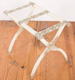 Luggage Rack w Embroidered Straps