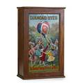 Diamond dyes cabinet litho tin door with children playing with a balloon filled with dye packages early 20th c 24 14 x 15 x 8
