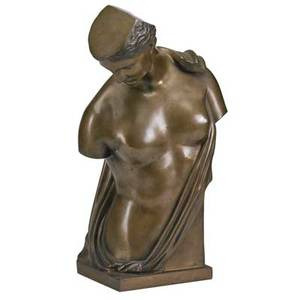 Continental bronze sculpture three quarter female torso in the roman style ca 1930 17 34