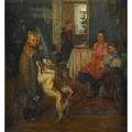 After f p reshetnikov russian 19061988 oil on canvas another bad mark framed 39 12 x 36 12