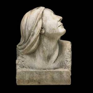 Continental marble sculpture bust of a young woman 1937 signed alice cosztonyi and dated 15 12 x 11 12 x 9