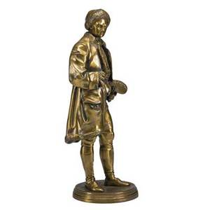 Jean jules salmson french 18231902 bronze sculpture of an artist 19th20th c signed 22 34