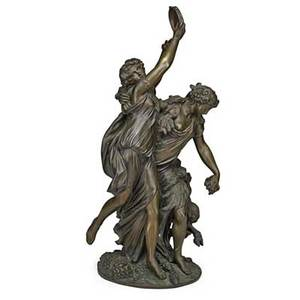 After michel claude clodion french 17381814 bronze sculpture of bacchantes and faun 19th c marked clodion 1762  raingo fres 16 34