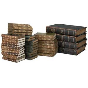 Early 20th c books thirtyeight including twelve volumes new century library 1904 twelve volumes the novels of jane austin 1903 pocket library of the worlds essential knowledge 1929 cen
