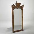 Eastlake victorian wall mirror usa ca 1890 walnut mirrored glass and gold paint 60 x 28