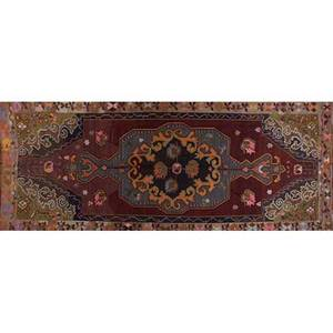 Kilim decorative design wool flat weave runner 160 x 67