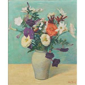 Julius t bloch american 18881966 oil on linen floral still life framed signed 24 14 x 20 14