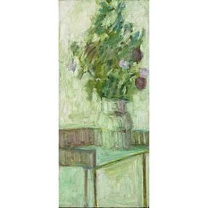 Robert kipness american b 1931 oil on masonite floral still life framed signed 17 78 x 7 78